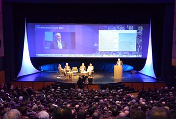法语英语同声传译服务 ITER商业论坛 Aténao翻译公司 新闻发布会